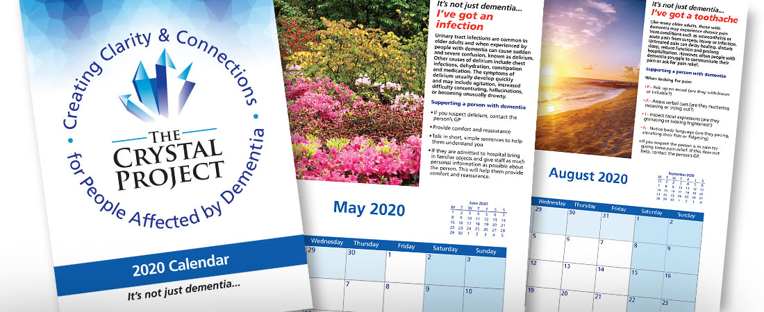 The Crystal Project for people affected by Dementia Calendar 2020